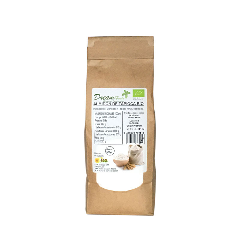 Almidon De Tapioca Sin Gluten Bio 500g Dream Food