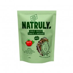 kale con sabor a tomate y oregano, snack saludable